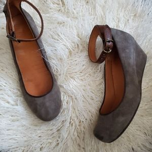 Chie Mihara x Anthropologie Suede Wedge